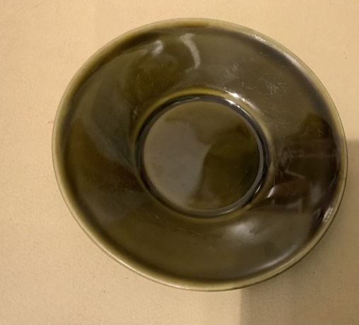 Talerzyki spodeczki ceramiczne  Kera-Vitral -oliwkowa flora - F.Kulika