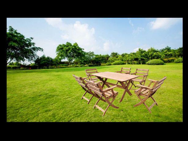 Drewniane meble ogrodowe stół + 6 krzeseł do ogrodu DOSTWA CAŁY KRAJ