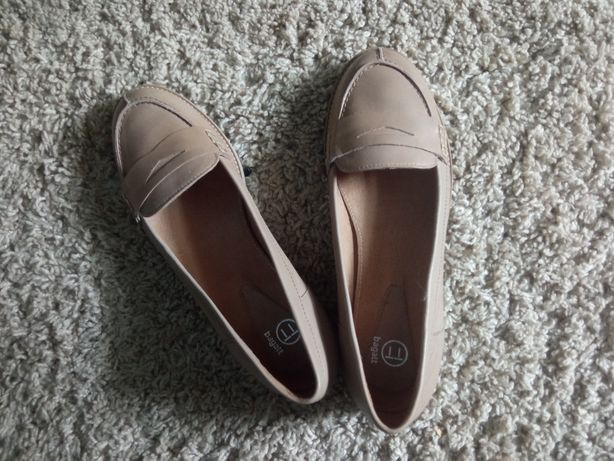 Пудровые туфли балетки 37 р кожа