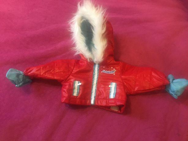 Новая зимняя курточка с мехом для маленького собачки или котика