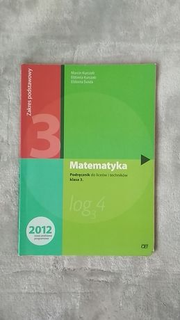 Podręcznik do matematyki (zakres podstawowy) klasa 3