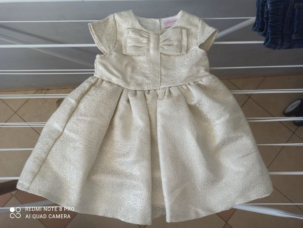 Sukienka 86 balowa złota wizytowa