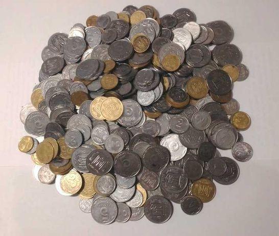 Монеты Украины ( 1,3 кг) номиналом 1, 2, 5, 10, 25 коп.