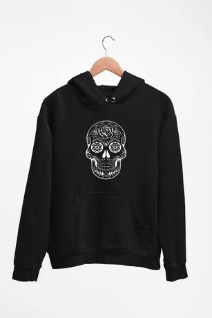 Bluza z kapturem Sugar Skull - męskie i damskie - dostępne 4 kolory