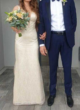 Suknia ślubna elegancka długa