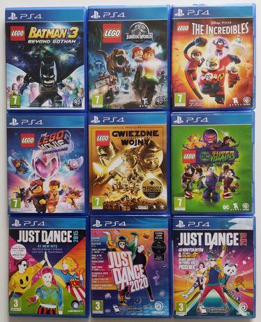 Gry PS4 Just dance LEGO Batman Przygoda Jurasic Iniemamocni