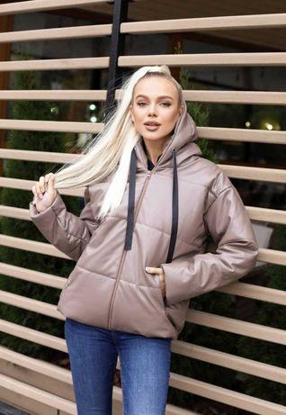 женская куртка осень-зима ЭКО кожа