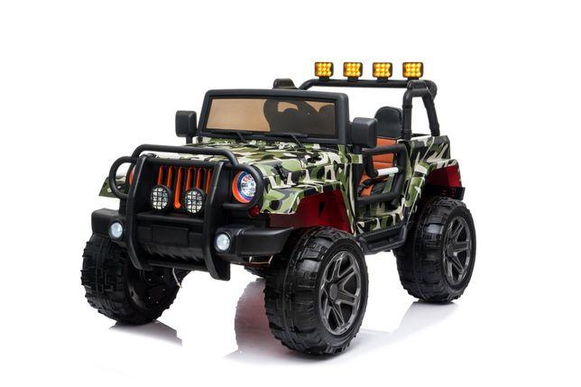 Jeep Monster 4x4 dwuosobowy Tylko u nas 2 x 10AH. Unikatowy kolor MORO