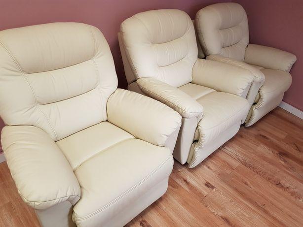 Fotel Carmel z funkcją relax skóra!