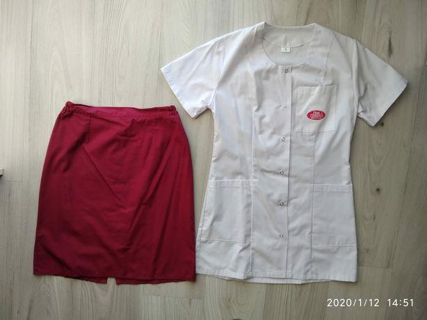 Komplet medyczny żakiet + spódnica rozmiar S
