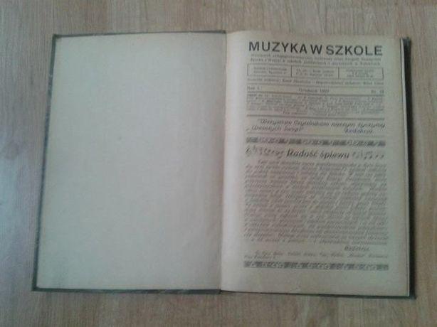 Muzyka w szkole - czasopismo z 1930 r.