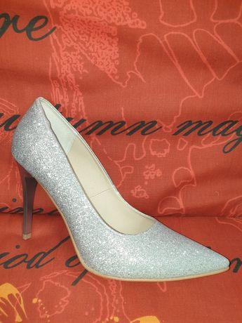 Obuwie damskie ślubne czółenka szpilki buty wizytowe