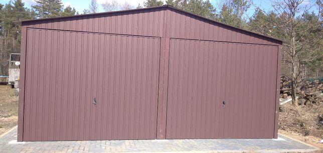 garaż 6x5,6x6,6x7, garaże blaszane drewnopodobne, wzmocnione profilem