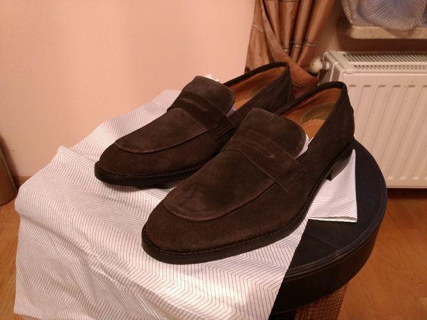 Nowe Buty Mokasyny 45 skórzane zamszowe 46 gino