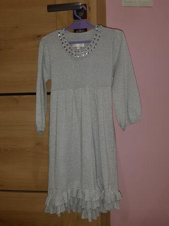 Sukienka srebrna 128
