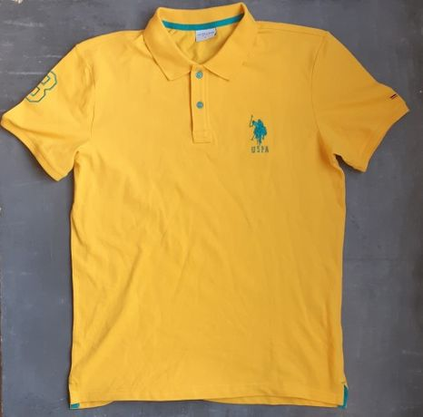 Мужское желтое поло US Polo ASSN M-L