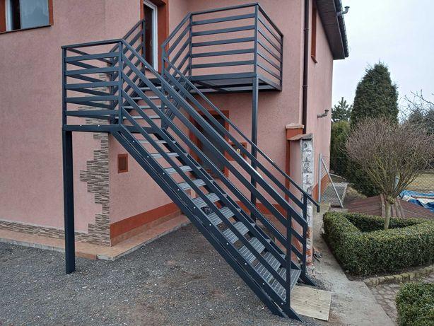 Balustrady, schody, ogrodzenia, bramy