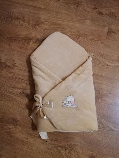 Мягкий велюровый конверт на выписку весна осень для девочки и мальчика