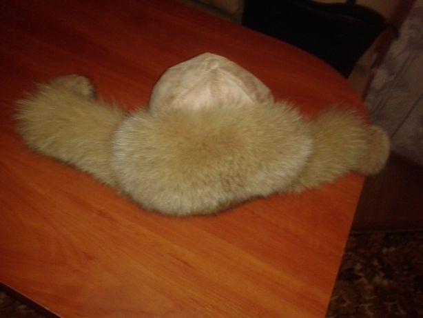 песцовая шапка-ушанка для девушки