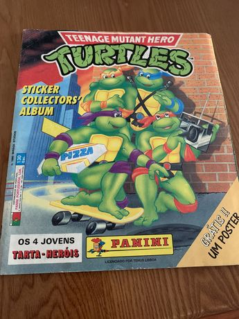 Caderneta de cromos Tartarugas Ninja Panini COMPLETA