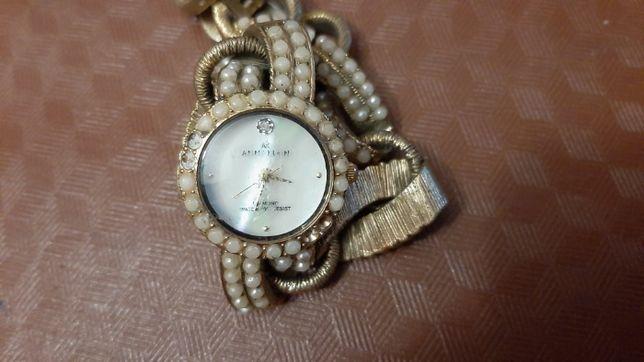 Водонепроницаемые часы Anne Klein Diamond Faux Pearl