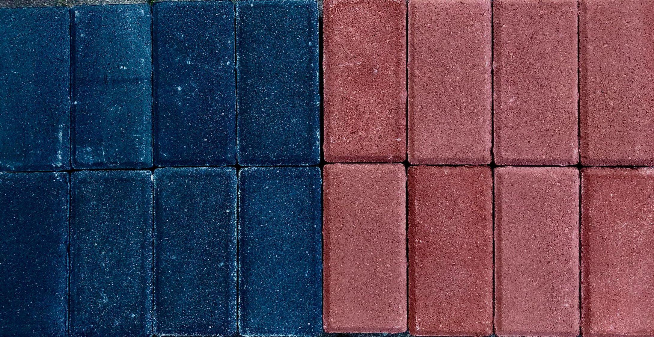 Kostka brukowa- Holland cegiełka grafit/czerwona 6 cm