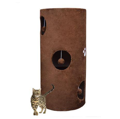 Drapak/Tuba/ Wieża/ Legowisko dla Kota 78cm Brązowy Plusz Sizal 17029
