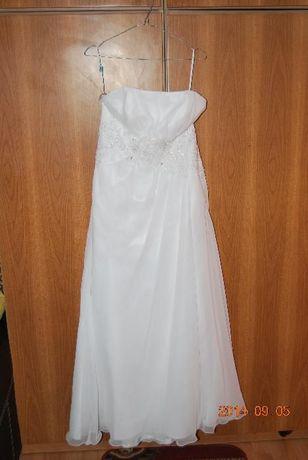 biała suknia ślubna z bolerkiem + buty gratis