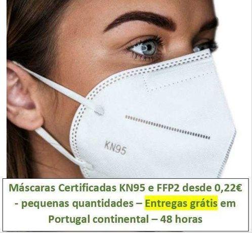 Máscaras KN95 e FFP2 - Pequenas quantidades - entregas grátis