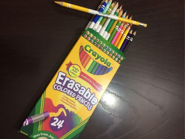 Карандаши цветные Crayola Erasable Colored Pensils 24