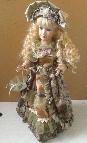 кукла керамика (дама с зонтом)
