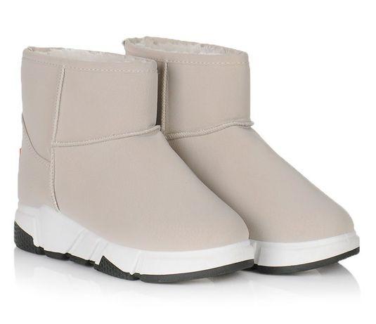 Бежевые женские сапоги зимние угги зима обувь 36 37 38 39 40