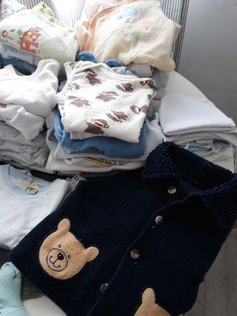 Max paka ubranka 0-3 miesiace chłopczyk (69 sztuk)