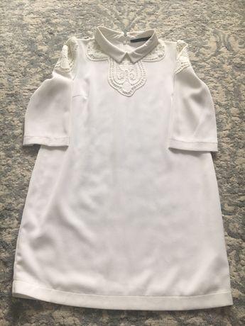 Платье белое  36 размер