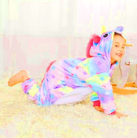 Кигуруми единорог пижама кігурумі звездочка радуга