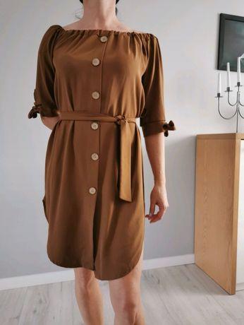 Karmelowa sukienka