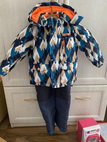 Зимний комбинезон плюс куртка сhicco очень теплый 3 года рост 98