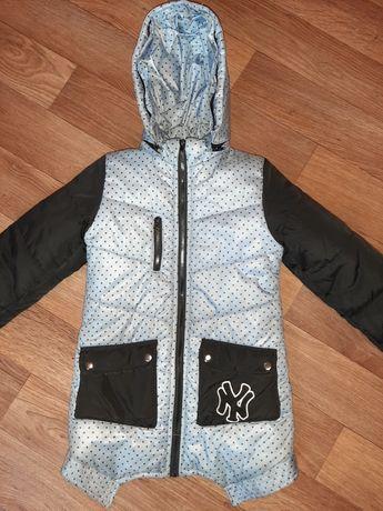 Детская зимняя осенняя курточка пальто силикон 300