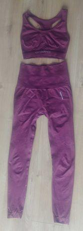 Carpatree legginsy bezszwowe fitness M jak nowe top M bordowe