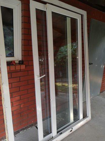 Okno tarasowe, białe