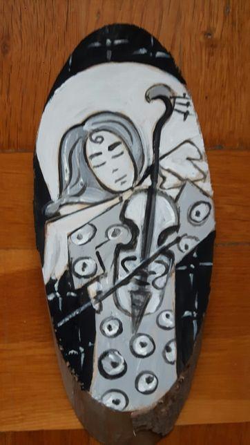 Anioł Stróż na Całe Życie obraz ręcznie malowany na drewnie