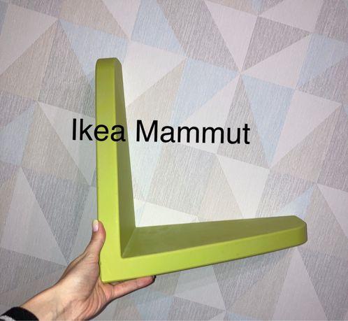 Półka ścienna Ikea Mammut zielona/limonka na książki/na zabawki