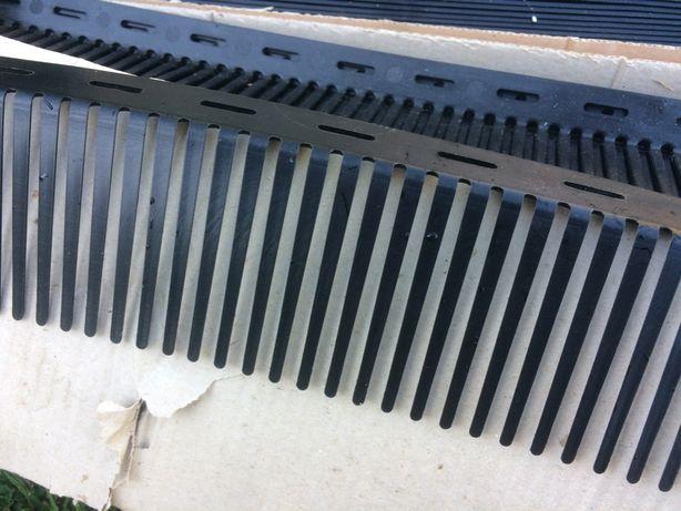 Malha de proteção em PVC, para beirado telha