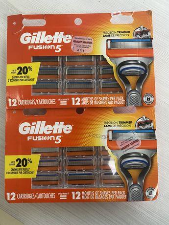 Gillette Fusion 5 картріджі Оригінал 12 шт