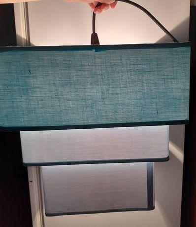 Candeeiro de teto, azul bebé