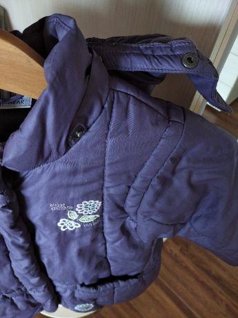 фирменная супер куртка,пуховичок для маленькой модницы 4-х лет.