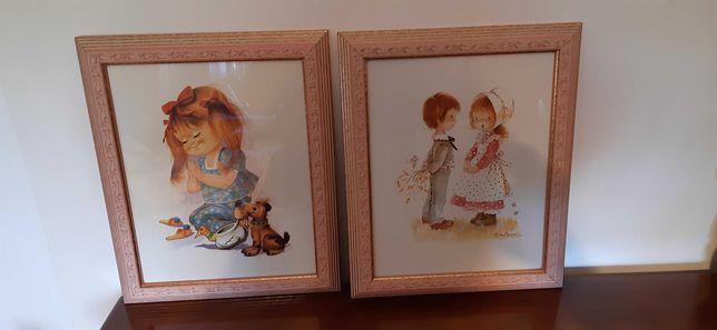 Conjunto de 2 quadros criança