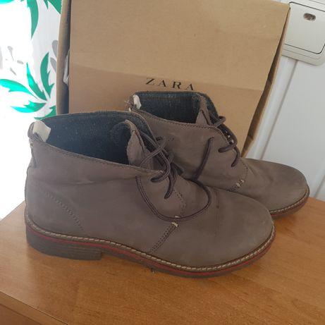 Ботинки Zara кожанные