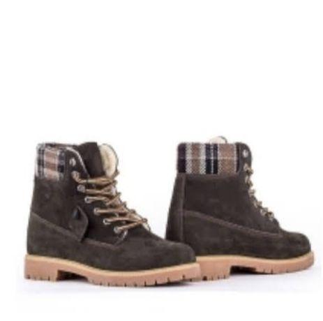 "Кожаные ботинки,сапоги-Зима ТМ""Lonza"""