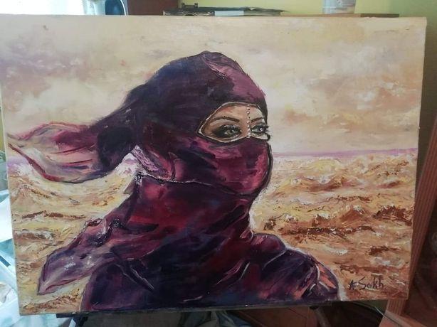 Obraz*Muzułmanka*,malarka Alina Sakhatska